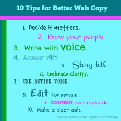 10 tips for better web copy