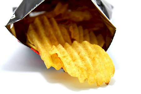 Opened bag of chips